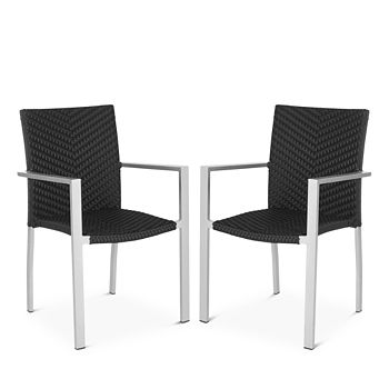 SAFAVIEH - Cordova Indoor/Outdoor Stacking Arm Chairs, Set of 2