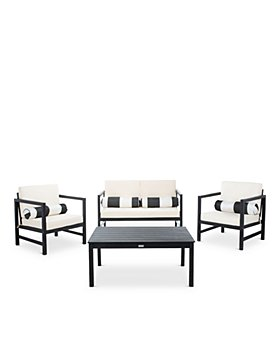 SAFAVIEH - Montez 4-Piece Outdoor Set with Accent Pillows