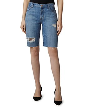 J Brand - Ripped Denim Bermuda Shorts in Senska Distressed