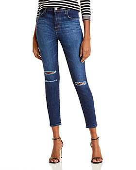 J Brand - Alana Ripped Cropped Skinny Jeans