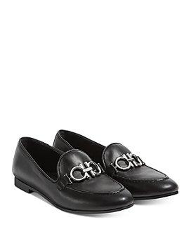 Salvatore Ferragamo - Embellished Slip On Loafer Flats