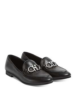 Salvatore Ferragamo - Embellished Slip On Loafer Flats