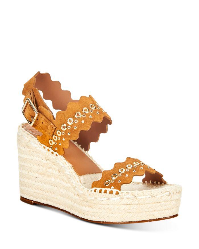 Chloé Women's Lauren Scalloped Espadrille Wedge Sandals    Bloomingdale's