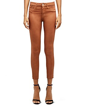 L'AGENCE - Margot High-Rise Skinny Jeans in Coated