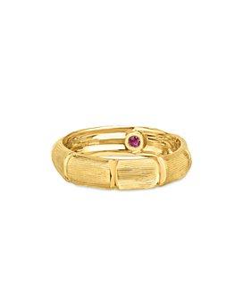 Roberto Coin - 18K Yellow Gold Satin Bamboo Statement Ring