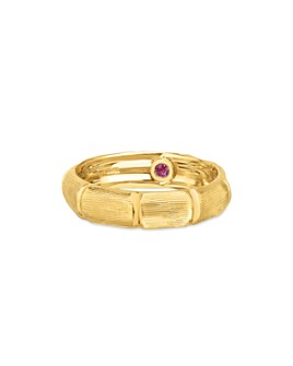 Roberto Coin - 18K Yellow Gold Satin Bamboo Statement Ring