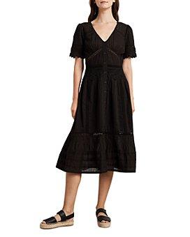 Velvet by Graham & Spencer - Suri Cotton Lace-Trim Midi Dress