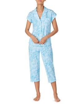 Ralph Lauren - Cotton Floral-Print Knit Capri Pajamas