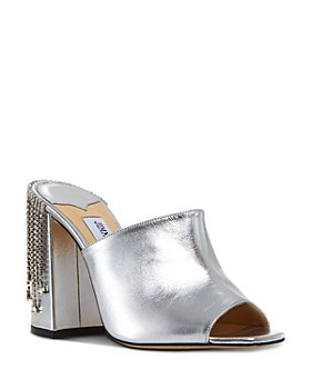 Jimmy Choo - Women's Baia 100 High Heel Crystal Clogs