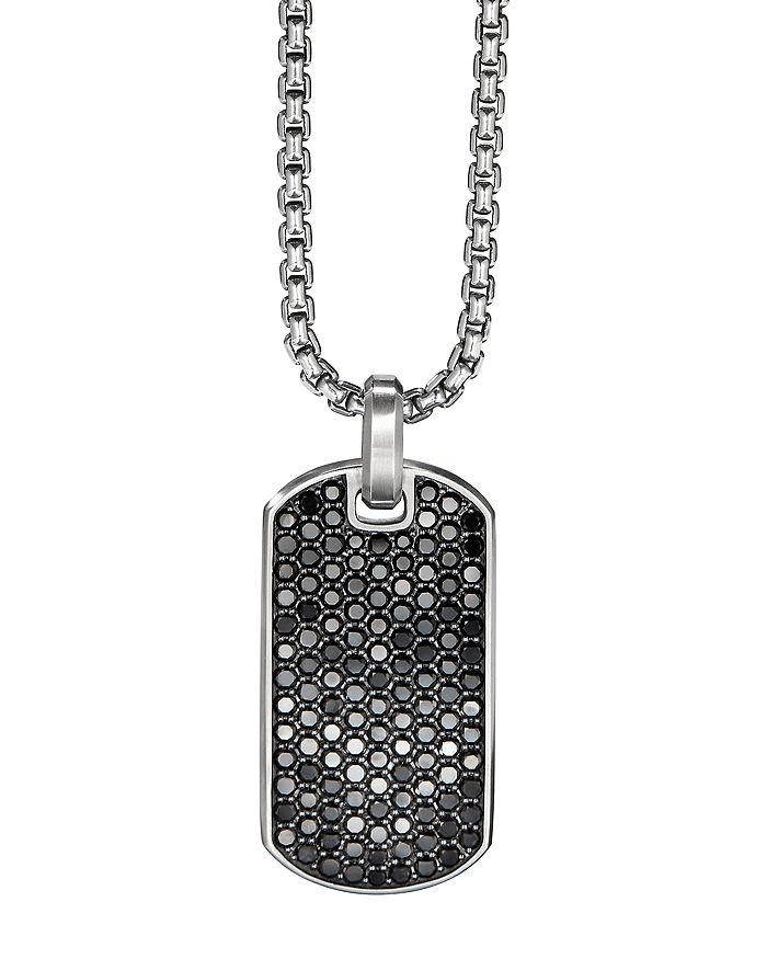 David Yurman - Streamline® Tag Pendant with Pavé Black Diamonds