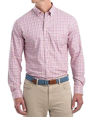 Johnnie-o Curtis Cotton-Blend Heather Twill Plaid Classic Fit Button-Down Shirt-Men
