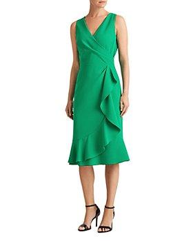 Ralph Lauren - Ruffle-Trim Crepe Dress