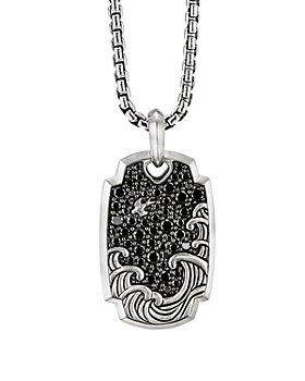 David Yurman - Waves Pendant with Pavé Black Diamonds