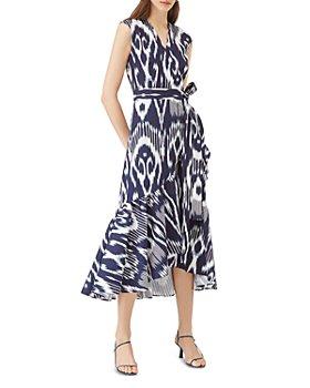 Rebecca Taylor - Ruffle-Hem Cotton-Blend Ikat Wrap Dress