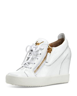 Giuseppe Zanotti - Women's Zippered Wedge Sneakers
