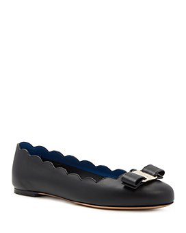 Salvatore Ferragamo - Women's Varina Scalloped Ballet Flats