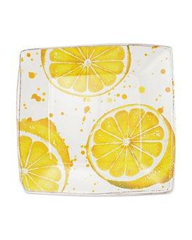 VIETRI - Melamine Fruit Lemon Square Platter
