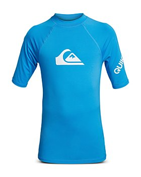 Quiksilver - Boys' All Time Short Sleeve Rash Guard - Big Kid