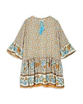 Hayden Los Angeles - Girls' Long Sleeve Floral Print Dress - Big Kid
