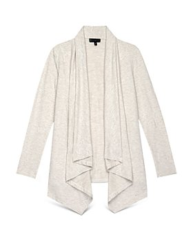 B Collection by Bobeau Curvy - Amie Embroidered French Terry Cardigan