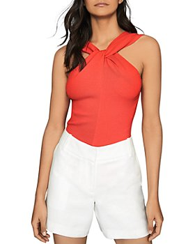 REISS - Brooke Twist High Neck Top