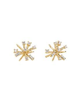 David Yurman - 18K Yellow Gold Petite Supernova Diamond Stud Earrings