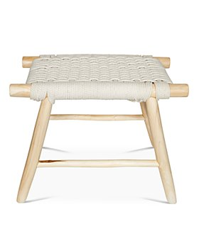 Baum-Essex - Ventura Woven Rope and Teak Vanity Stool
