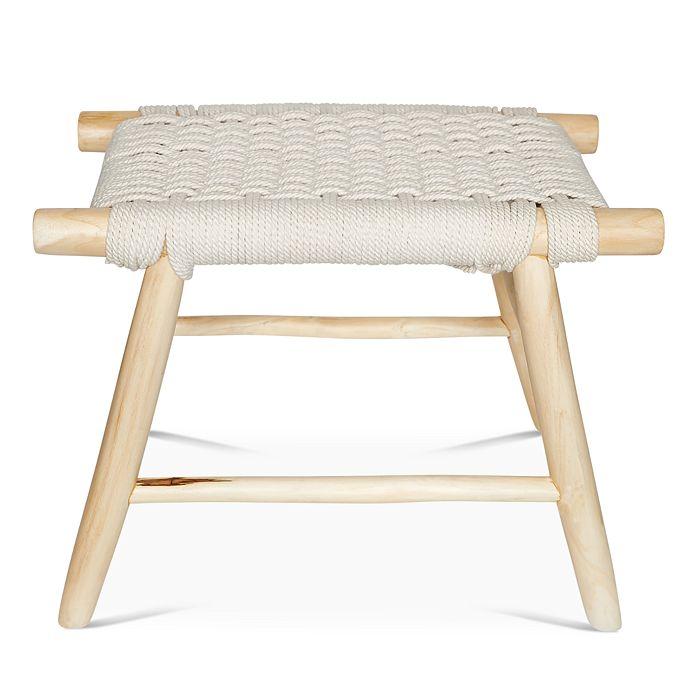 Baum-Essex - Ventura Woven Rope and Teak Vanity Stool