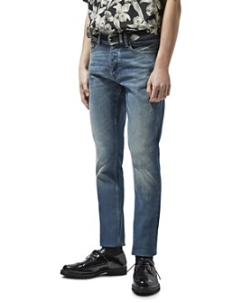 The Kooples - Straight Fit Jeans in Blue Denim