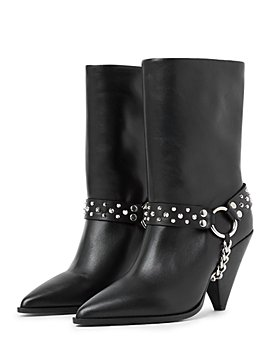 The Kooples - Women's Pointed Toe Studded Strap Boots