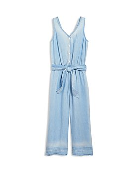 Bella Dahl - Girls' Tie Waist Wide Leg Jumpsuit - Little Kid, Big Kid
