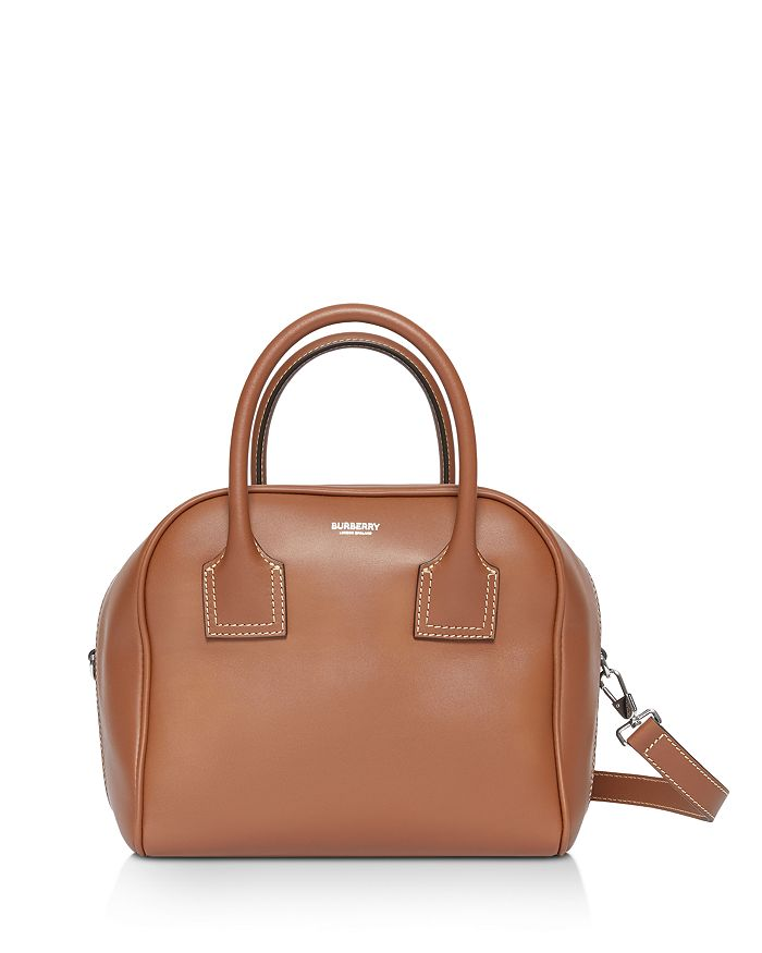 Burberry - Small Leather Cube Bag