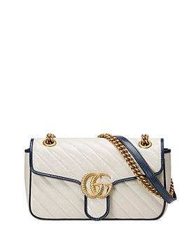 Gucci - GG Marmont Small White Matelassé Shoulder Bag