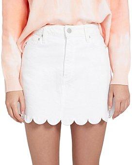 Alice and Olivia - Good Scalloped Denim Mini Skirt