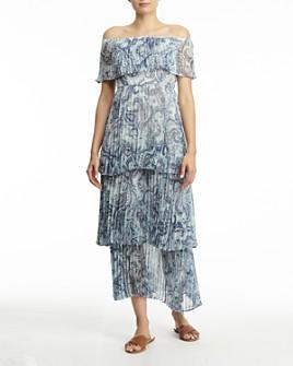 AQUA - Vimmy Off-the-Shoulder Pleated Dress - 100% Exclusive