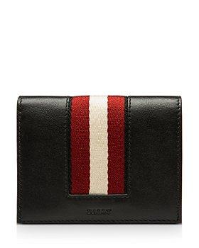 Bally - Babie Stripe Leather Bi Fold Card Case