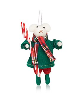 Bloomingdale's - Mouse and Candy Cane Ornament - 100% Exclusive