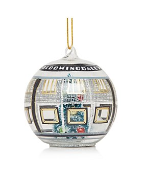 Bloomingdale's - 59th Street Store Glass Ball Ornament - 100% Exclusive
