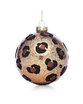 Bloomingdale's - Glass Leopard Print Ball Ornament - 100% Exclusive