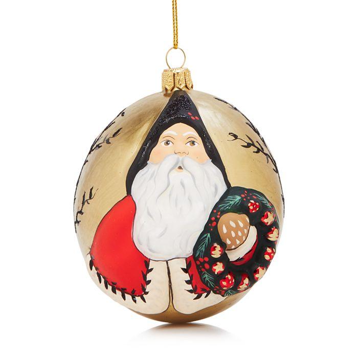 Vaillancourt - Jingle Balls Colonial Santa Ornament