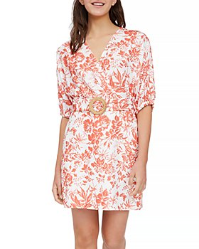 Lucy Paris - Floral Belted Sheath Dress - 100% Exclusive