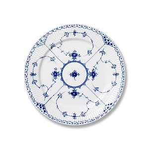 Royal Copenhagen Blue Fluted Half Lace Salad Plate