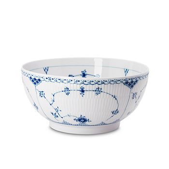 "Royal Copenhagen - ""Blue Fluted Half Lace"" Salad Bowl"