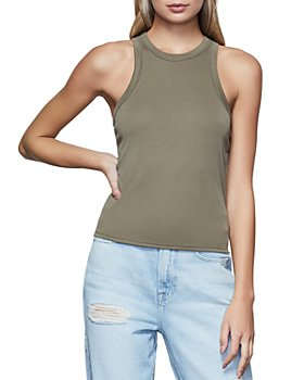 Good American - Ribbed Racer Tank Top