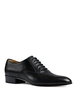 Gucci - Men's Worsh Leather Plain Toe Oxfords