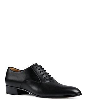 Gucci - Men's Worsh Leather Plain Toe Oxfords