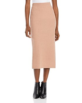 C by Bloomingdale's - Ribbed Cashmere Midi Skirt - 100% Exclusive