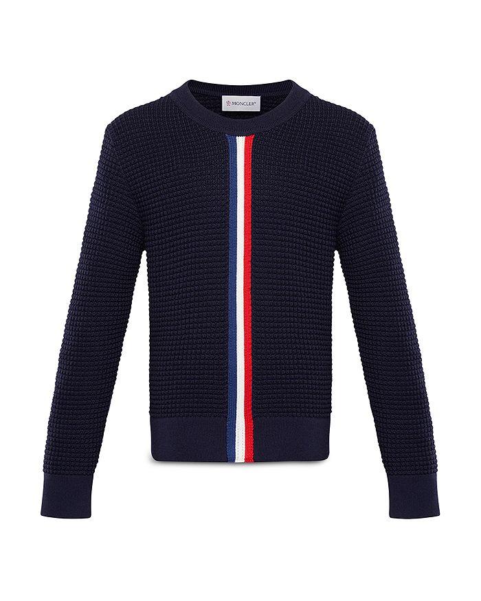 Moncler - Unisex Waffle Knit Wool Sweater - Big Kid