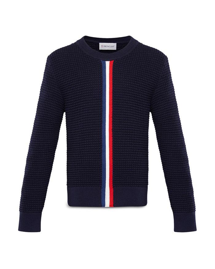 Moncler Unisex Waffle Knit Wool Sweater - Big Kid  | Bloomingdale's