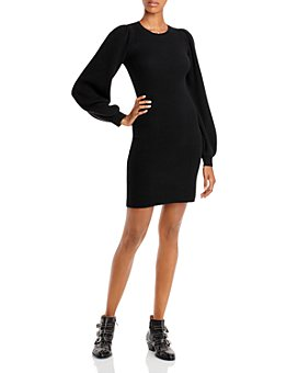 AQUA - Ribbed Cashmere Sweater Dress - 100% Exclusive
